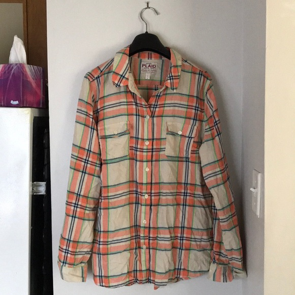 3c20adcc60 Old Navy Tops | Womens Plaid Long Sleeve Size L | Poshmark